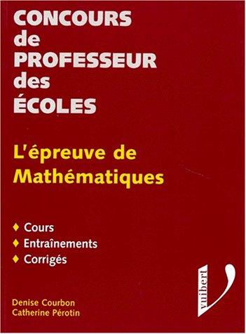 L'épreuve de mathématiques