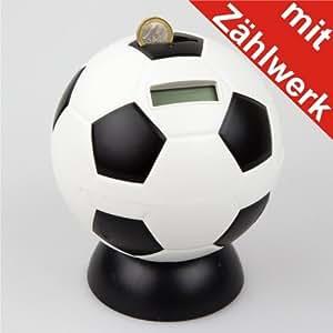 Spardose Fußball Münzzähler digital 15x17cm