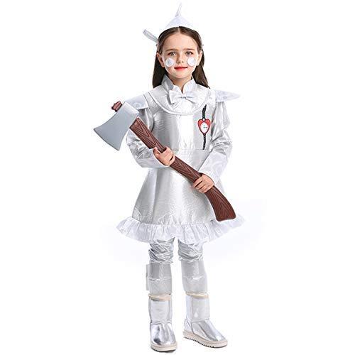 Kostüm Of Wizard Halloween Oz - Fanessy. The Wizard of Oz Kostüm Tin Man Outfit Halloween Silber Kostüm für Fasching Halloween Karneval Party Familien Kostüm Kind Erwachsene Verkleidung Cosplay Outfit Set