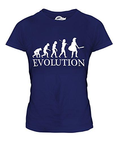 taner Evolution Des Menschen Damen T Shirt, Größe 3X-Large, Farbe Navy Blau (Blauer Spartaner Kostüm)