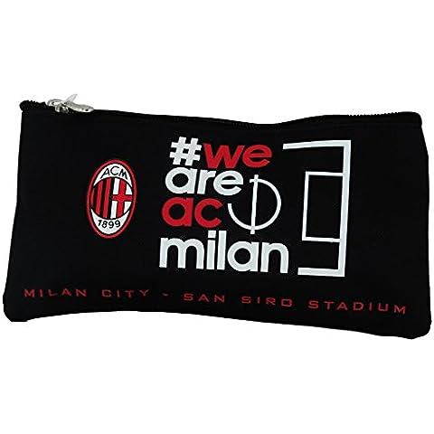 A.C. Milan We are Caso Estuche Bolsos Neceser Vanity Pochette Escolar