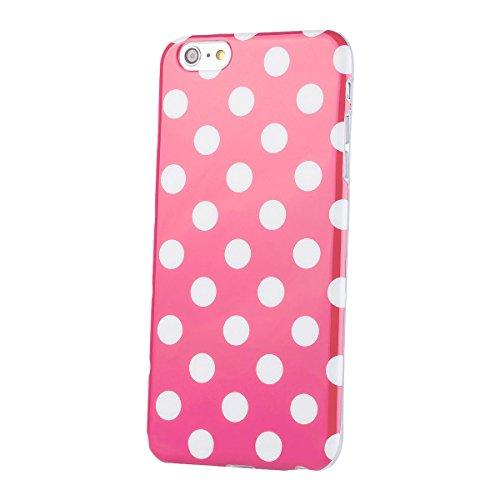 Apple iPhone 6 / 6S + PLUS (5,5 pulgadas) | iCues lunares TPU rosa | Señoras de las mujeres de las muchachas de gel de silicona adorno del modelo de piel protectora de protección [protector de pantalla, incluyendo] Cubierta Cubierta Funda Carcasa Bolsa Cover Case