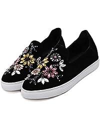 TTSHOES Per Donna Scarpe Velluto Primavera Estate Comoda Sneakers Piatto  Punta Tonda Con Diamantini… ede0bc0a866