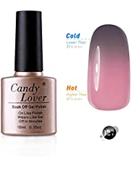 Candy Lover 10mL Soak Off LED Gel Nagellack Thermo Color Changing Gel Chameleon Shellac Polish Nagellack Farbe #127