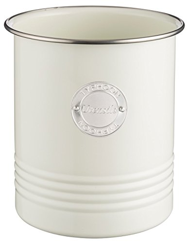 Typhoon Living Collection, pastellcreme, 1,7 Liter Utensilienbehälter, Stahl, Creme