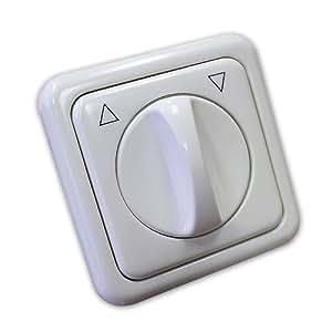 Knebelschalter mit Einfachrahmen für Unterputzmontage