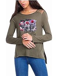 Tiffosi Flores Camiseta 10024425 para Mujer