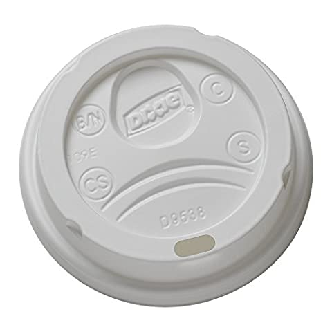 Dixie 9538DX Drink-Thru Lid, Fits 8 Oz Hot Drink Cups, White (Case of 1000)