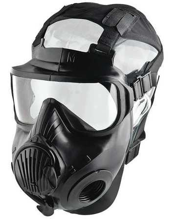 Mask, twin port, pu lens, rubber facepc, m by avon protection systems