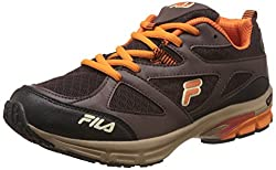 Fila Mens Foot Strike Black and Red Running Shoes - 6 UK/India (40 EU)