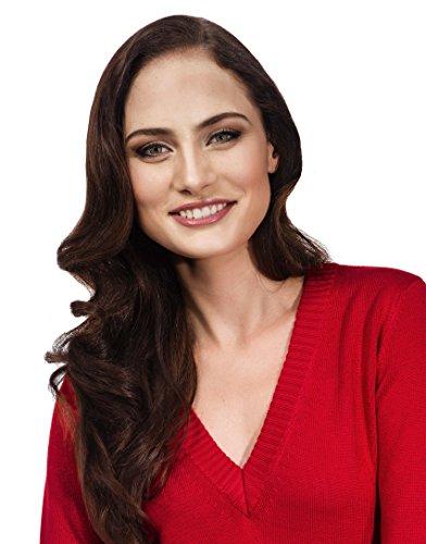 Vincenzo Boretti Damen Pullover V-Ausschnitt V-Neck modern elegant chick edel weich Strick-Pullover Rot