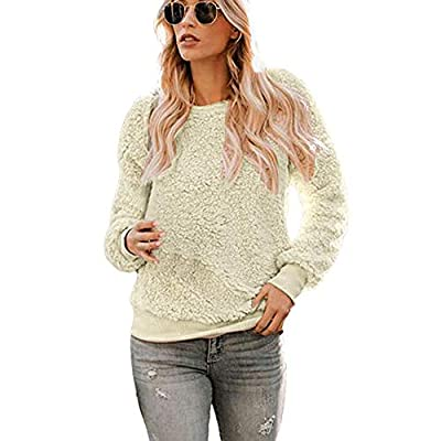 Sufeng Women's Solid Color Round Neck Shirt Fabric Double-Knit Shirt Pullover