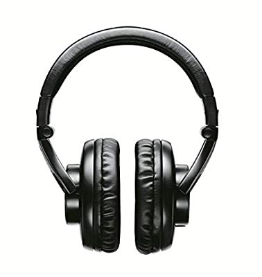 Shure SRH440-E Professional Headphones, accurate audio across an extended range, collapsible, black