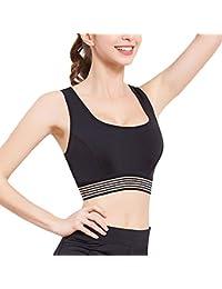 Mujer Sujetador Deportivo Yoga Imprimiendo Chaleco con Relleno Tirantes Anchos Sujetadores