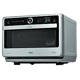 Whirlpool Microonde JT 479 IX Chef Premium termoventilato combinato, 33 litri, Inox, con griglia alta, griglia bassa…