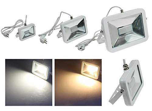 10W 30W 50W LED Slim alluminio esterno piantana Plug & Light-anschlussfertig con spina Schuko-IP44IP65 moderno 30W - 2200lm - warmweiß