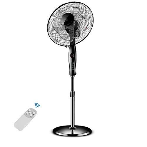 Hot-box-fan (RXBD fan Standventilator/Oszillierender Standventilator Mit Fernbedienung Standventilator, 3-Mode & 3-Speed & 7h Timer, Schwarz)