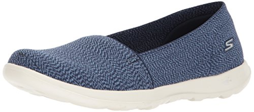 Skechers Damen Go Walk Lite - Smitten Slip On Sneaker, Blau (Navy), 41 EU (Skechers Go Walk Damen Navy)