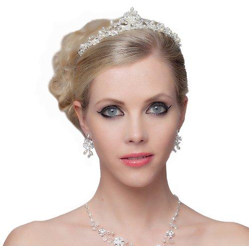 SEXYHER Atemberaubende Prinzessin Style Perlen Tiara Perfekt f¨¹r die Braut - SH-DL-C5183
