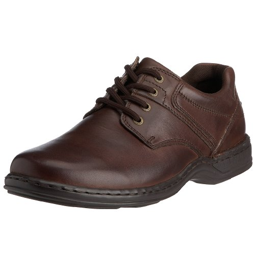 Hush Puppies - Zapatos de cordones de cuero para hombre, Marrón (Marron (Brown Leather)), 14 (Reino Unido)