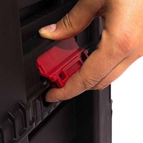 Keter 5 Drawer Tool Chest Set Acetal Slides, 1 Stück, schwarz / rot / silber, 17199301 - 6