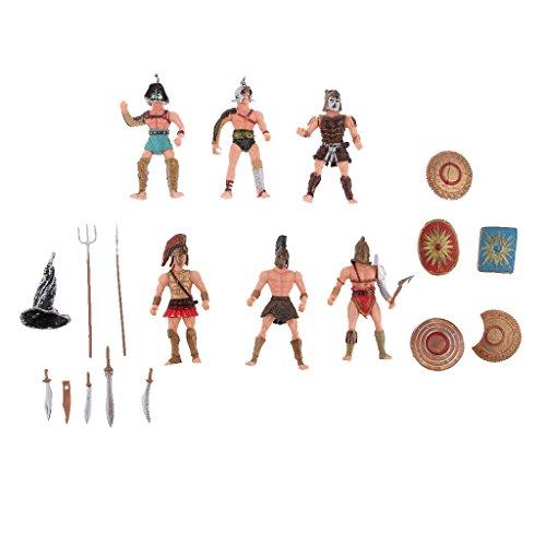 Blesiya 6pcs Figuras Miniatura Plástico Antiguo Romano