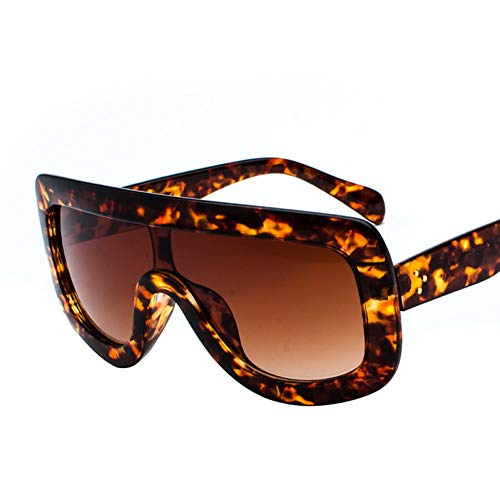 ADGJLI Mode Sonnenbrillen Großen Rahmen Einteilige Sonnenbrille Cool Integrat