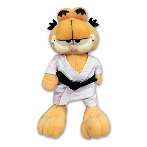 "Plush Soft Toy GARFIELD The Cat with KARATE Clothing 9"" (23cm) - Standing - 100% ORIGINAL"