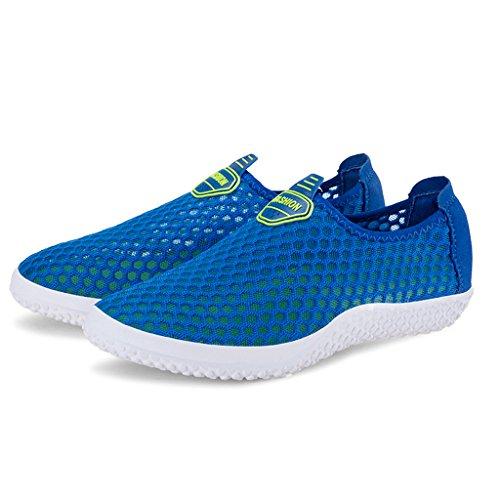 Eagsouni Chaussures pour piscine et plage chaussures de bain chaussons d'eau pour femme et homme Bleu