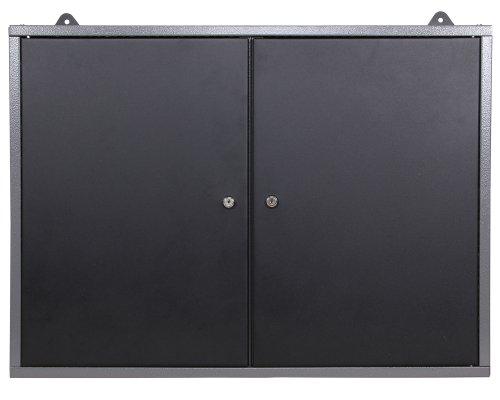 Ondis24 Montagewerkbank mit 2 geschlossenen Türen und 2 Schubläden, Werkstattschrank mit offenem Mittelteil, Eurlochung Schlüssellochung Werkzeugwand mit 22 Werkzeughalter - 2