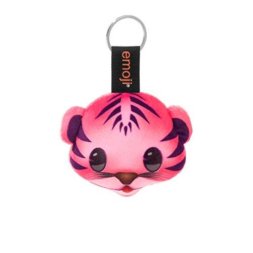 Emoji - Llavero tigre rosa