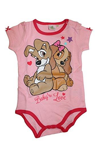 Disney Baby Susi und Strolch Mädchen Body Kurzarm (62/68 (6/9 Monate) Rosa)