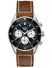 Uhr Tag Heuer Autavia cbe2110.fc8226Schalter Stahl Quandrante schwarz Armband Leder
