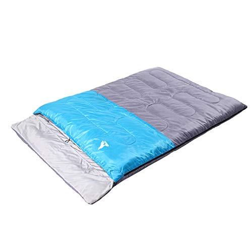 Paar Doppelschlafsack Verbreitet Dicken Outdoor Camping Mittagspause Warme Baumwolle Schlafsack 220 cm (Color : Blue)