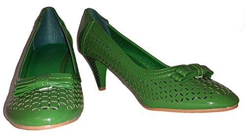 Talons hauts, Stiletto Pumps High Heels, orange, vert ou blanc, très sexy, modèle 11044102001269, escarpins, modèles et tailles différents (tailles 36 - 41). Vert.