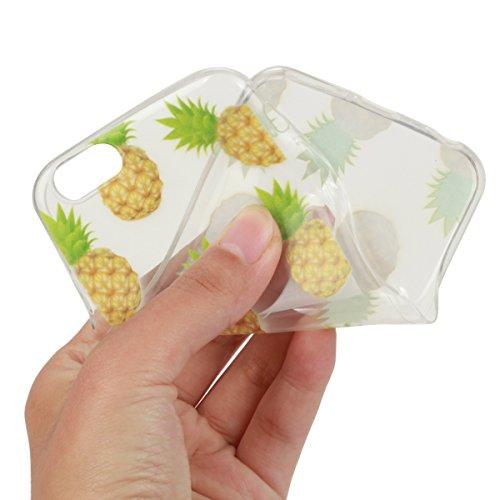 Apple iphone 6s Hülle,iphone 6 Transparent Crystal Klar Case,Ekakashop Ultra Dünn Slim Modisch Durchsichtig BOO Muster Weiche Silikon TPU Flexible Gel Case Crystal Defender Protective Schutzhülle Bump Ananas