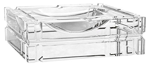 Casa Padrino Designer Kristallglas Aschenbecher 21 x 21 x H. 6,7 cm - Luxus Edition