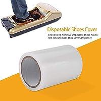 1 rollo Película de plástico, 5.91 x 4.13 pulgadas fuerte adhesivo desechable para zapatos cubierta de membrana para dispensador automático de cubierta de zapatos
