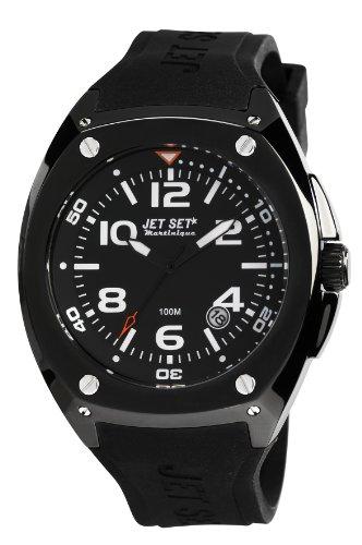 Jet Set-J3282B - 267-Martinique Men's Watch Analogue Quartz Black Rubber Strap Black Dial