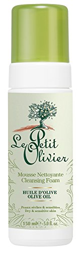 Le Petit Olivier - Mousse Nettoyante Visage Douceur à L'Huile d'Olive de Notre Moulin et Aloé Vera - 150 ml