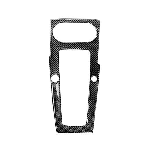 Preisvergleich Produktbild ELENXS Carbon Faser Gangschaltung Control Panel Deckel Aufkleber replacemnt Für A3 2014 2017 Auto Innendekoration