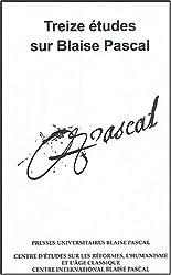 Treize études sur Blaise Pascal