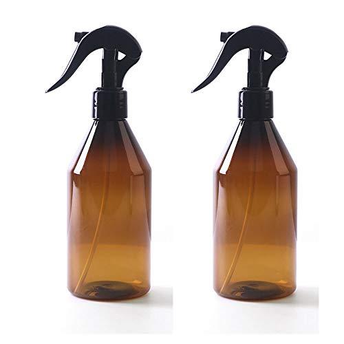 DOUBLED 2PCS Botellas de vidrio ámbar con atomizadores para envases de artículos de tocador de aceites esenciales,  300 ml
