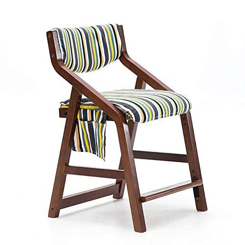 Esszimmerstühle YXX Kinder gepolstert Esstischstuhl Sessel Holz, Moderne höhenverstellbar Beine...