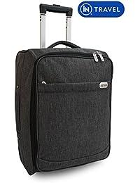 Sac Trolley de Cabine avec étui Bagages Roues à main sacs de vol de costume pour Aigle Azur, Air France, Easyjet, Ryanair, Airlinair, Jet2 et beaucoup d'autres compagnies aériennes ou Voyage (Gris)