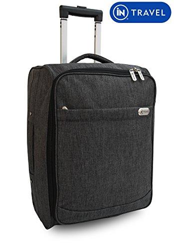 Preisvergleich Produktbild Kabine Tasche Trolly mit Rollen Handgepäck Flight Suit Case für Easyjet,  Ryanair,  British Airways,  Virgin,  Flybe,  Jet 2 und viele andere Airlines oder Reise (Grau)