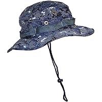 TININNA Camuflaje Sombrero Táctico SWAT Color Wear Woodland Camo Boonie Selva Gorra para Wargame Deportes Acampar Caza Pesca Actividades al Aire Libre Sombrero Hat-Camuflaje 2#