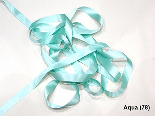 Double Faced Satin Ribbon Berisfords Aqua Colour 78