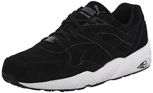 d1088c98714f Puma 35939205 Men S R698 Allover Suede Trinomic Shoe Black ...