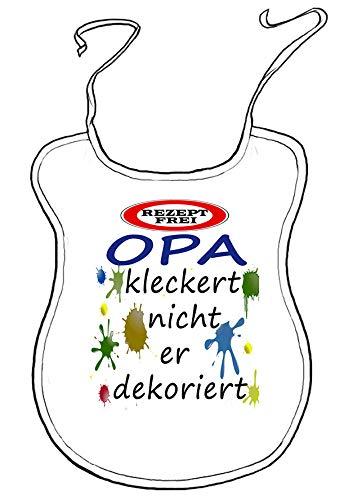 Kleckerlatz Scherz-Latz für Erwachsene Opa Baby-Lätzchen
